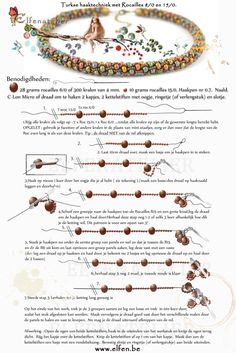 Elfenatelier (Beaded crochet bracelet step-by-step, requires translation but pictures are helpful)