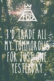 Bildergebnis für fall out boy just one yesterday lyrics