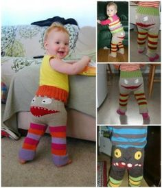 Knit These Adorable Monster Pants for Your Favorite Little Monster (Free Pattern)