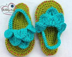 Baby/Toddler Crocodile Stitch Slippers Crochet Pattern