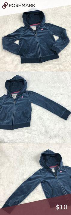 3T Blue Polka Dot Jean Denim Jacket Coat Toddler Girls Size 3 Years GAP Baby
