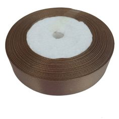 Shekyeon Dark Brown 2cm Width 22meters Length Craft Satin Ribbon ** Click on the image for additional details.