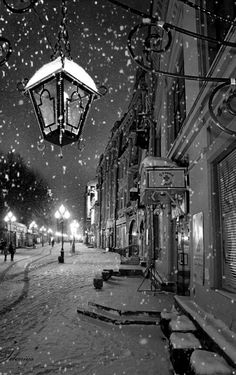 Snowy night.. Moscow, Russia