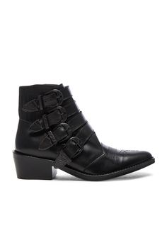 TOGA PULLA Buckled Leather Booties #TOGAPULLA #Booties