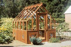 8x9 Tudor redwood greenhouse (1992 original prototype)