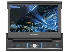 """DVD Player Pósitron SP6520LINK Retrátil LCD 7"""" - Touch Bluetooth Entrada Auxiliar USB Micro SD com as melhores condições você encontra no Magazine Brasilcompleto. Confira!"""