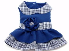 Navy Blue Dress for a Small Dog by MaxMilian on Etsy, $25.00