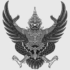 Thai_Garuda_emblem_freigestellt_sw