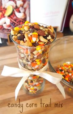 Candy Corn Trail Mix! (A Cheap & Quick Treat Idea!)