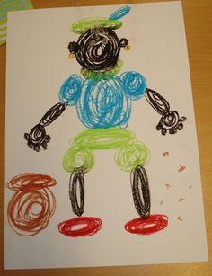 Voorbereidend schrijven: Zwarte piet van vloeiende bewegingen. Yoga For Kids, Art For Kids, Scribble Art, Saint Nicholas, Circus Theme, Arts And Crafts, Diy Crafts, Child Love, Drawing For Kids