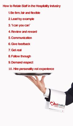 How to retain staff in the hospitality industry. In fact - how to be a great boss in any industry!