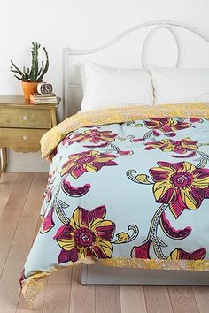 Magical Thinking Owabi Floral Reversible Duvet Cove.  I love this bold pattern and the beautiful colors.  It's warm yet soft at the same time!