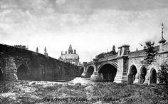 Old & New Trent Bridges, Nottingham, Local History, Family History, Nottingham City, Old Photos, Vintage Photos, History Photos, Britain, Past, England