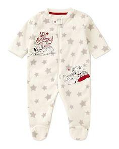 101 Dalmations Fleecey Baby Sleepsuit
