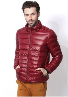 90% white duck down Winter Keep Warm Coat Casual Men's Down Jacket ...