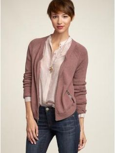 I like the color of both shell and cardigan. I like the relaxed and yet polished look.