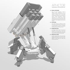 APHETOR Missile Launcher Battery by M-Vitzh.deviantart.com on @deviantART http://m-vitzh.deviantart.com/art/APHETOR-Missile-Launcher-Battery-402642141 ★    CHARACTER DESIGN REFERENCES   キャラクターデザイン  • Find more artworks at https://www.facebook.com/CharacterDesignReferences  http://www.pinterest.com/characterdesigh and learn how to draw: #concept #art #animation #anime #comics    ★