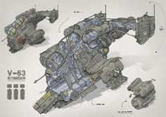 Hind Dropship and Scene layout, Peter Sutherland on ArtStation at http://www.artstation.com/artwork/hind-dropship-and-scene-layout