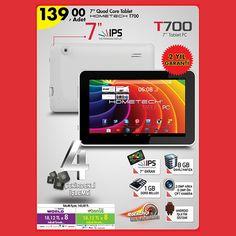 #Hometech T700 4 çekirdekli Android tablet 139,00 TL fiyatı ile tüm #A101 marketlerde!  http://goo.gl/ZfrtAi
