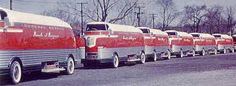In 1939, General Motors had a fleet of twelve GM Futurliner vehicles used to transport and showcase their traveling Parade of Progress road show. Modified in 1953, this is one of a few surviving examples from the fleet.