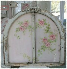 Rose painted doors
