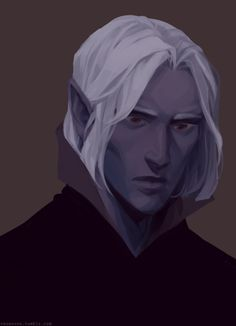 drow disguise (Xan, Baldur's Gate II) by veusovon on deviantART