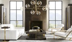 Rh Modern Living Room Rh Modern where Less is More and Minimal is Magnified Restoration Hardware Living Room, Family Room Design, Contemporary Sofa, Home Living Room, Home Furnishings, Luxury Homes, Furniture Design, Interior Design, Home Decor