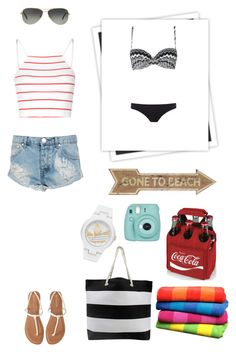 """""""Holiday in LA... Beach Wear"""" by snowflake-city ❤ liked on Polyvore featuring GALA, John Lewis, Paul Smith, Glamorous, One Teaspoon, Aéropostale, Tiffany & Co., Picnic Time and adidas"""