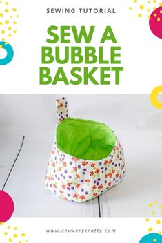 Use the free sewing pattern and step-by-step sewing tutorial to create this fun storage basket.  This bubble baske is fun to make and very functional. I use mine everyday.  Use some fun fabrics to make your bubble bakset exactly what you need. Sewing Patterns Free, Free Sewing, Sewing Tutorials, Craft Projects, Sewing Projects, Learn To Sew, How To Make, Photo Tutorial, Storage Baskets