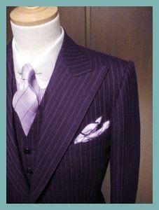 Pinstriped Plum Remi suit