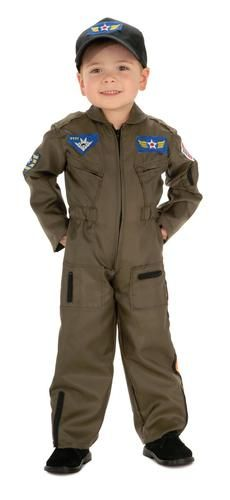 You're in the Air Force now! This Pilot Costume will have you taking off in no time. Includes cap and jumpsuit. Please note that shoes are NOT included.