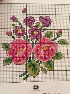 Çiçek 123 Cross Stitch, Cross Stitch Cards, Cross Stitch Borders, Cross Stitch Flowers, Cross Stitch Designs, Cross Stitching, Blackwork Embroidery, Cross Stitch Embroidery, Hand Embroidery