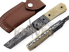 Knives Exporter Custom New Damascus Steel Folding Knife Camel Bone Handle KE-F48 #KnivesExporter