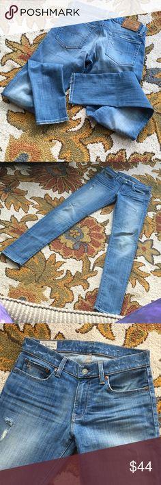 Polo Tompkins skinny size 28, (32 length) Polo Tompkins Skinny size 28. 32 length. Distressed. Worn Twice. Polo by Ralph Lauren Jeans Skinny