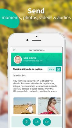 Send moments, photos, videos and audios