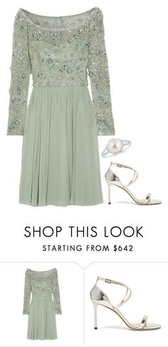 """""""Untitled #3805"""" by injie-anis ❤ liked on Polyvore featuring Jenny Packham and Jimmy Choo"""