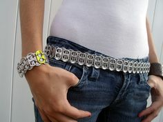 pop tab bracelet & belt instructions = good instructions