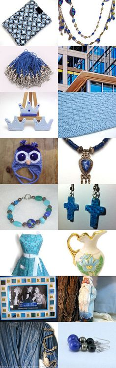 Summertime Blues by Jennifer Burrell on Etsy--Pinned with TreasuryPin.com