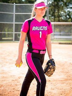 "Womens ""Quasar"" Softball Uniform Set With Pants BGR6171SOF-SETP"