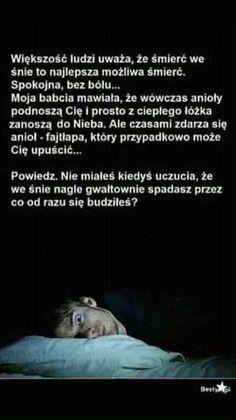 Spadanie w dół podczas snu Polish Memes, Dark Sense Of Humor, Weekend Humor, Funny Mems, Everything And Nothing, Funny Stories, Wtf Funny, Creepypasta, Sentences