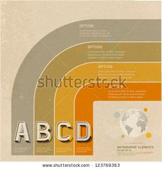 Retro Color Options Banner On Old Paper Background. Vector Illustration. Can Be Used For Workflow Layout, Diagram, Web Design, Infographics, Number Banner. - 123769363 : Shutterstock