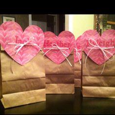 Valentine treat bags ...
