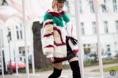 cloudy zakrocki. NYFW kickoff - fancy fur. Candy coloured