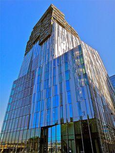 Office tower Mahler 4 - Amsterdam, The Netherlands;  designed by Erick van Egeraat;  photo by Ken Lee 2010, via Flickr