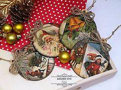Dekorácie - RETRO Vianočné ozdôbky sada 10 ks - 4778012_