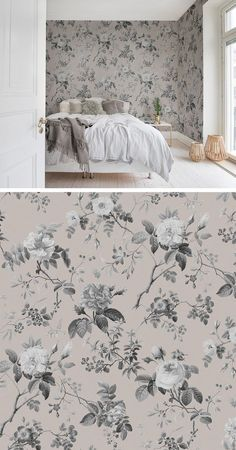 bäst fotografier heminredning sovrum tapet stil m+ - Lilly is Love Home Decor Bedroom, Room Decor, Woman Cave, Wall Wallpaper, Living Spaces, Interior Decorating, New Homes, House Styles, Wall Papers