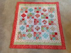 Moda charm pack quilt by purplequilters, via Flickr