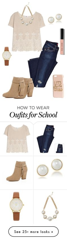 """School"" by fashionista-diva-983 on Polyvore featuring MANGO, River Island, Carolee, Kate Spade, Warehouse, H&M and Bobbi Brown Cosmetics"