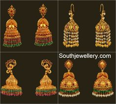 Indian Jewellery Designs - Page 66 of 1783 - Latest Indian Jewellery Designs 2020 ~ 22 Carat Gold Jewellery one gram gold Indian Jewellery Design, Latest Jewellery, Jewelry Design, Jhumka Designs, Gold Earrings Designs, Necklace Designs, Gold Jhumka Earrings, Antique Earrings, Indian Earrings