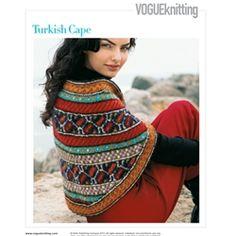 Vogue Knitting Cape Pattern : knitting.patterns on Pinterest